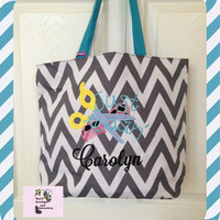 personalized Hairstylist   Chevron Tote Bag  perfect every Day Bag