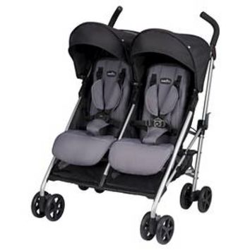 Evenflo® Minno Twin Double Stroller Glenbarr Gray