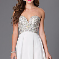 Short Strapless Sweetheart Dress by Swing