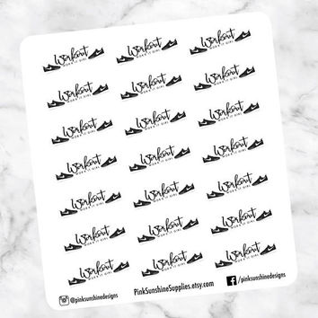 WORKOUT Fitness Run Lift Stickers for your Planner