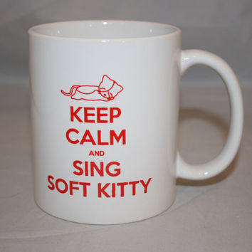 Big Bang Theory Inspired Soft Kitty Mug by KennieBlossoms on Etsy
