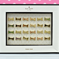 kate spade new york: push pins - bow