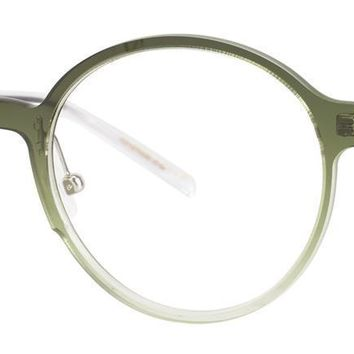 Jhane Barnes - Notation 49mm Olive Gradient Eyeglasses / Demo Lenses