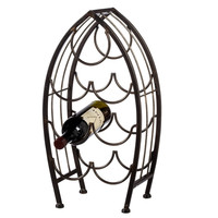 Fish Shaped Black Iron Wine Bottle Holder