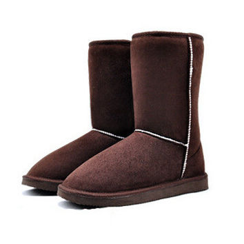 Winter Snow Man-Made Fur mid calf Casual Boots Shoes