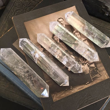 Crystal Wand Large Clear Quartz Wand  Quartz Crystal Wand Healing Crystal / Double Terminated Mineral Specimen Crystal Point Meditation Gift