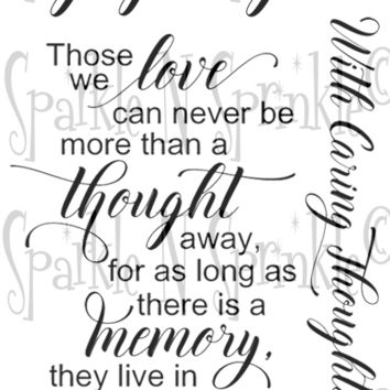 Memory in Our Hearts Rubber Stamp Set [00-917P8]