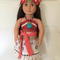 Moana Doll Costume #4 for 18 in. Dolls (American Girl, Our Generation, etc.)