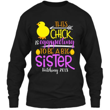 Funny Easter Pregnancy Announcement T Shirt Big Sister LS Ultra Cotton Tshirt