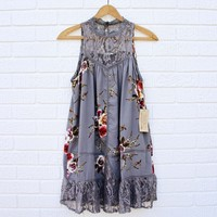 Lace Gypsy Dress in Shadow