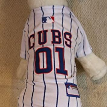 CHICAGO CUBS ¡ï AUTHENTIC DOG JERSEY ¡ï OFFICIALLY LICENSED MLB ¡ï ALL SIZES (XS)