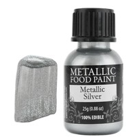 Silver Metallic Edible Paint RD