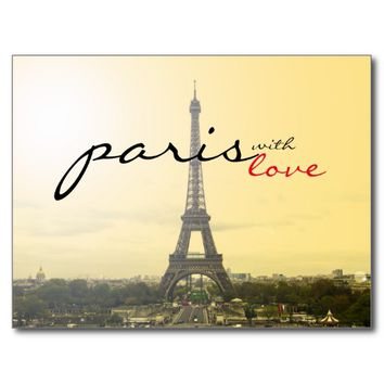 Paris with Love Postcard