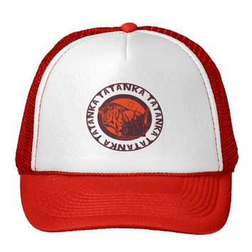 Tatanka (Buffalo) Version 2 Red & Black Trucker Hat