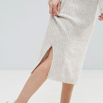 ASOS Midi Dress in Chunky Knit at asos.com