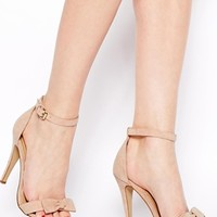 New Look Present Cream Bow Barely There Heeled Sandals