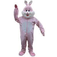 Ultra Soft Pink Easter Rabbit Mascot Adult One Size