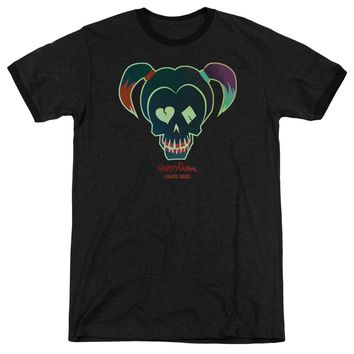 Suicide Squad - Harley Skull Adult Heather Officially Licensed T-Shirt Short Sleeve Shirt