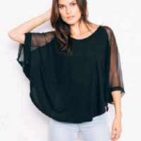 Feel The Piece Marlin Sheer Bat Wing Top | ShopAmbience