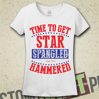 Star Spangled Hammered Tshirt - Tee - Shirt - Ladies - Funny - Merica - Fourth of July - Independence Day - Party - College - Summer