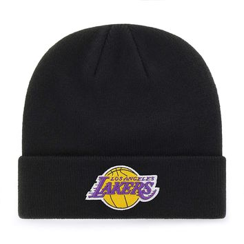 Los Angeles Lakers Logo Raised Cuff Knit Cap