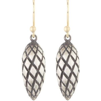 Ted Muehling Silver Pine Cone Earrings
