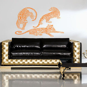 Animal leopard panther cat-o'-mountain Room Stylish Wall Art Sticker Decal 8218