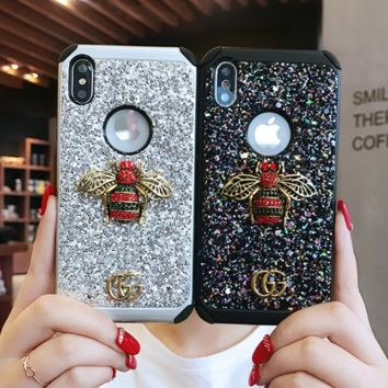 Gucci shining rhinestone GG iphone case cover protector for Iphone 6/6s/6plus/7plus/8plus/X