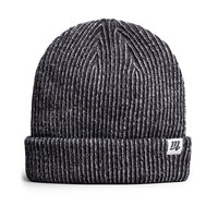 """M"" Fisherman Beanie (Black Steel)"