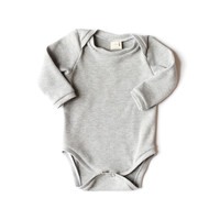 Long-Sleeve Baby Bodysuit Heather Gray