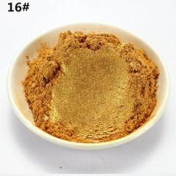 20g gold color Healthy Natural Mineral Mica Powder DIY For Soap Dye Soap Colorant makeup Soap Powder and so on
