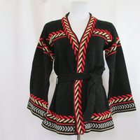 Sweater Cardigan Vintage  70's Medium