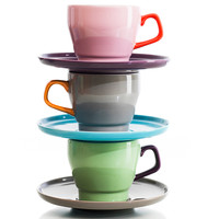 Sagaform: POP Coffee Cup And Saucer Pink, at 10% off!