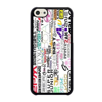 kpop all band iphone 5c case cover  number 2