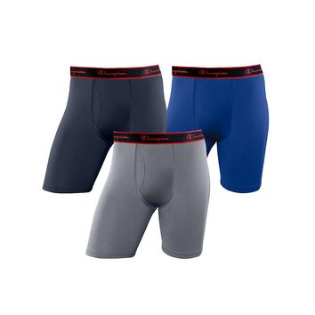 Champion Active Performance Long Boxer Brief 3-Pack