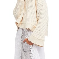 Free People Maybe Baby Bell Sleeve Sweater | Nordstrom