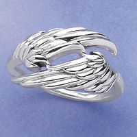 Angel Wings Ring - New Age, Spiritual Gifts, Yoga, Wicca, Gothic, Reiki, Celtic, Crystal, Tarot at Pyramid Collection