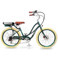 The Electric Step-Through Comfort Bicycle - Hammacher Schlemmer