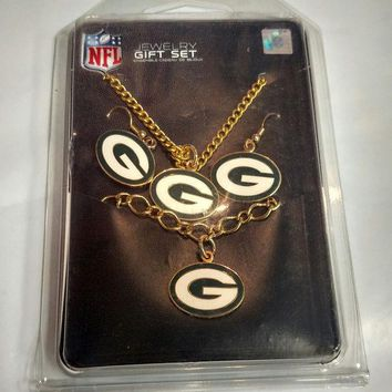 DCCKG8Q NFL Green Bay Packers 3 Pack Jewelry Gift Set