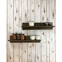 "Hawkins No. 2 - Handmade, Solid Wood, 24"" Floating Shelf Set - Stained Finish"