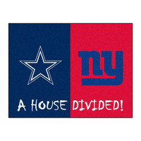 Dallas Cowboys-New York Giants NFL House Divided NFL All-Star Floor Mat (34x45)