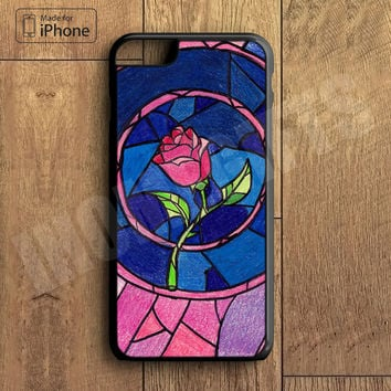 Beauty and Beast Flower Plastic Case iPhone 6S 6 Plus 5 5S SE 5C 4 4S Case Ipod Touch 6 5 4 Case