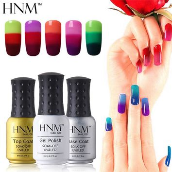 HNM Temperature 3 Colors Changing Gel Nail Polish Mood Nail Gel Polish UV Nail Glue Gel Lak Gel Varnishes Gelpolish