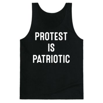 PROTEST IS PATRIOTIC TANK TOP