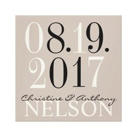 Custom Date to Remember Wedding Canvas
