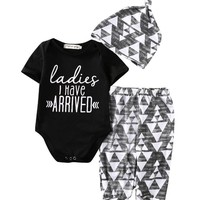 Newborn Baby Girl Boy Cotton Romper Set