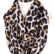 Classic Leopard Infinity Scarf in Ivory