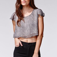 Lucca Couture Cropped Top - Womens Tees