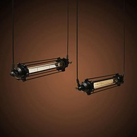 Top Quality E27 40W Loft Industrial Retro Vintage Kitchen Bar Chandeliers Ceiling Hanging Flute Pendant Lamp AC110V/220V
