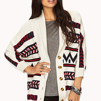 Striped Chevron Cardigan